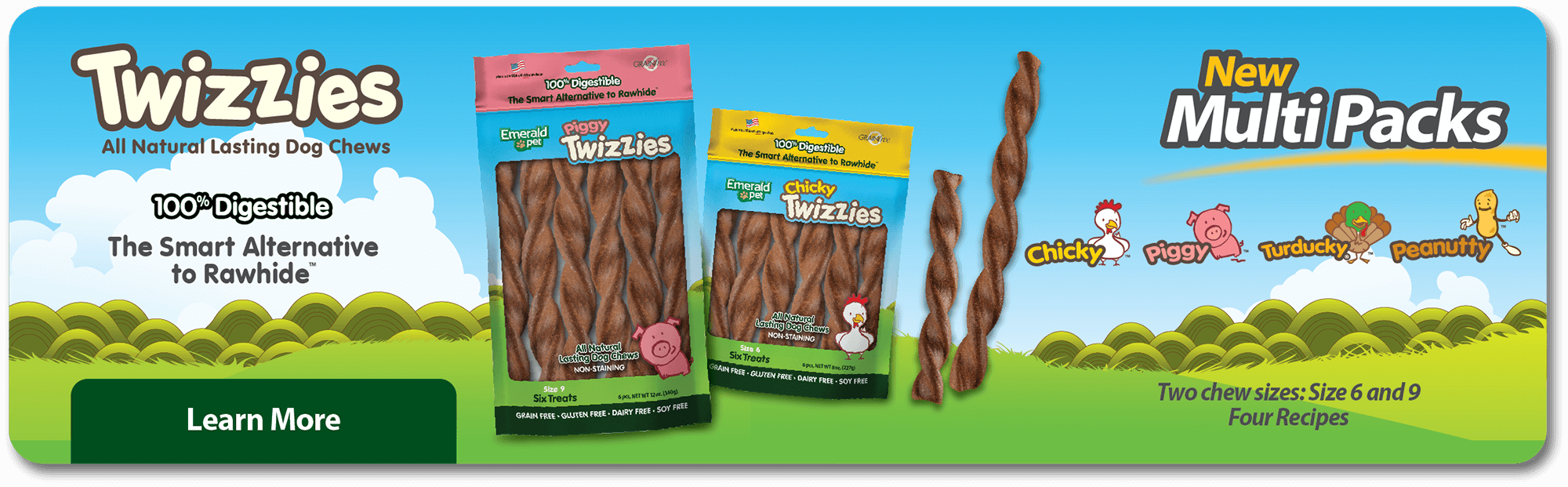 Twizzies all natural lasting dog chews
