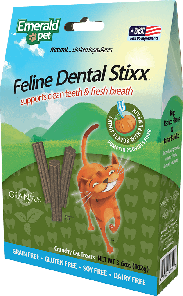 Feline Dental Stixx - Catnip Flavor with Pumpkin